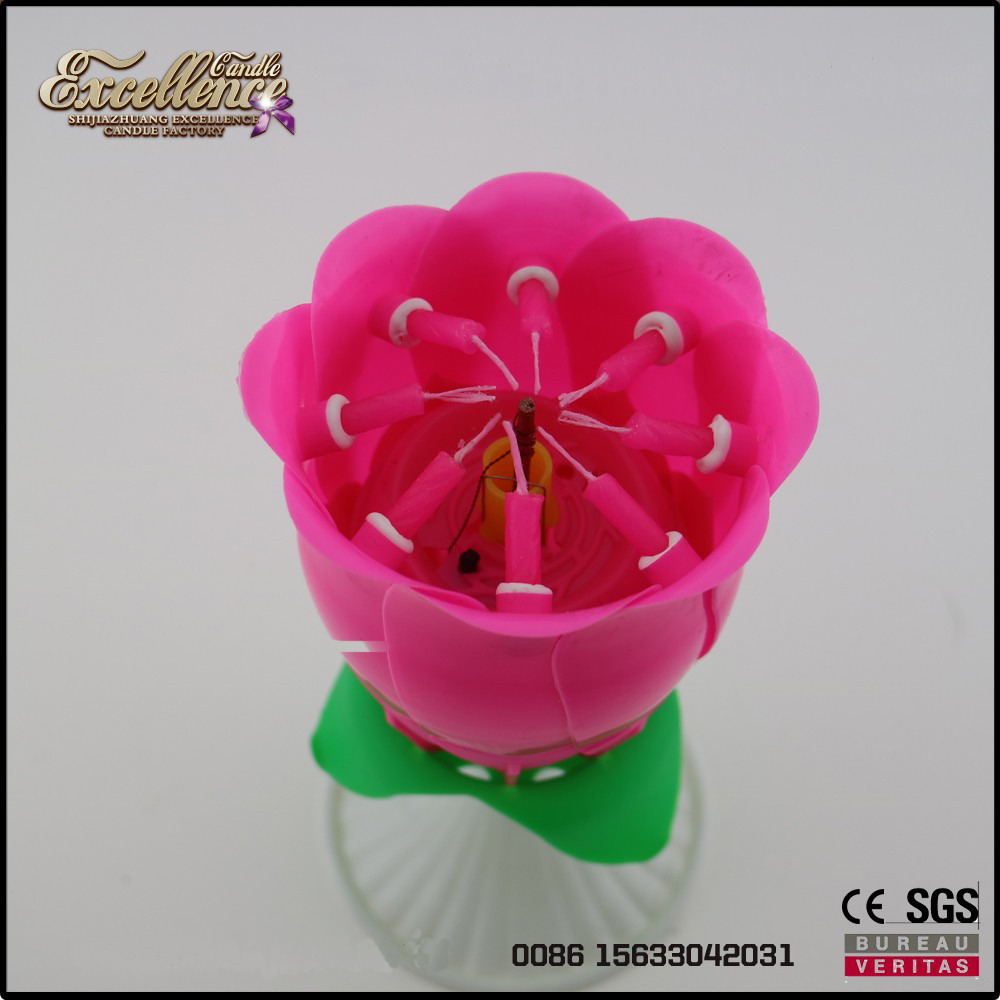 the hottest birthday party decorations candle making rotating sparkling music candle