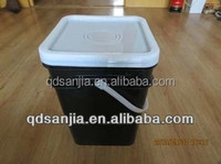 Plastic Square Bucket With Handle And Lids White Plastic Food Grade Square Drum