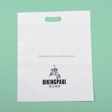 Pictures printing white pp woven bag with top pounching/bags handle (zz149)