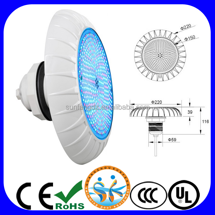 Newest V220P PVC vinyl liner pool 18W 30W led swimming pool light