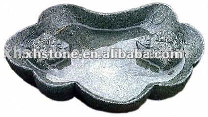 stone hand carving plate