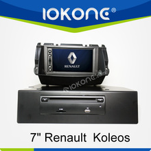 "factory 7"" HD Touch screen newest renault koleos gps navigation with TMC, camera, mic, dvb-t"