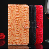 business wallet card-slot pu Vintage embossing leather cell mobile phone photo frame case