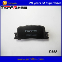 D885 autoparts top quality brake pad factory for Toyota car