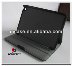 eco-freindly canvas bamboo armour case for iPad 4 with magnetic auto wake / sleep function and three reading angles stand