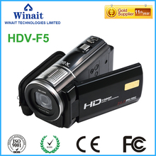 "HDV-F5 1080P Full HD 3.0"" Rotatable Touch Screen LCD Digital Video Camera Digital Zoom Anti-shake with Remote Controller"