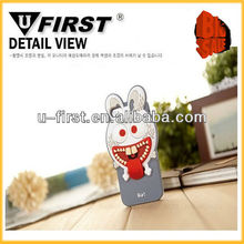 High quality Animal silicone cartoon case for iphone 5,Rabbit case, soft and colorful