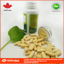 Vitamin C time release immune booster supplements Certified by Health Canada GMP