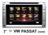 "(for VW Passat new) 7"" car DVD GPS player for VW car, with TV,radio, bluetooth, 3G WCDMA"