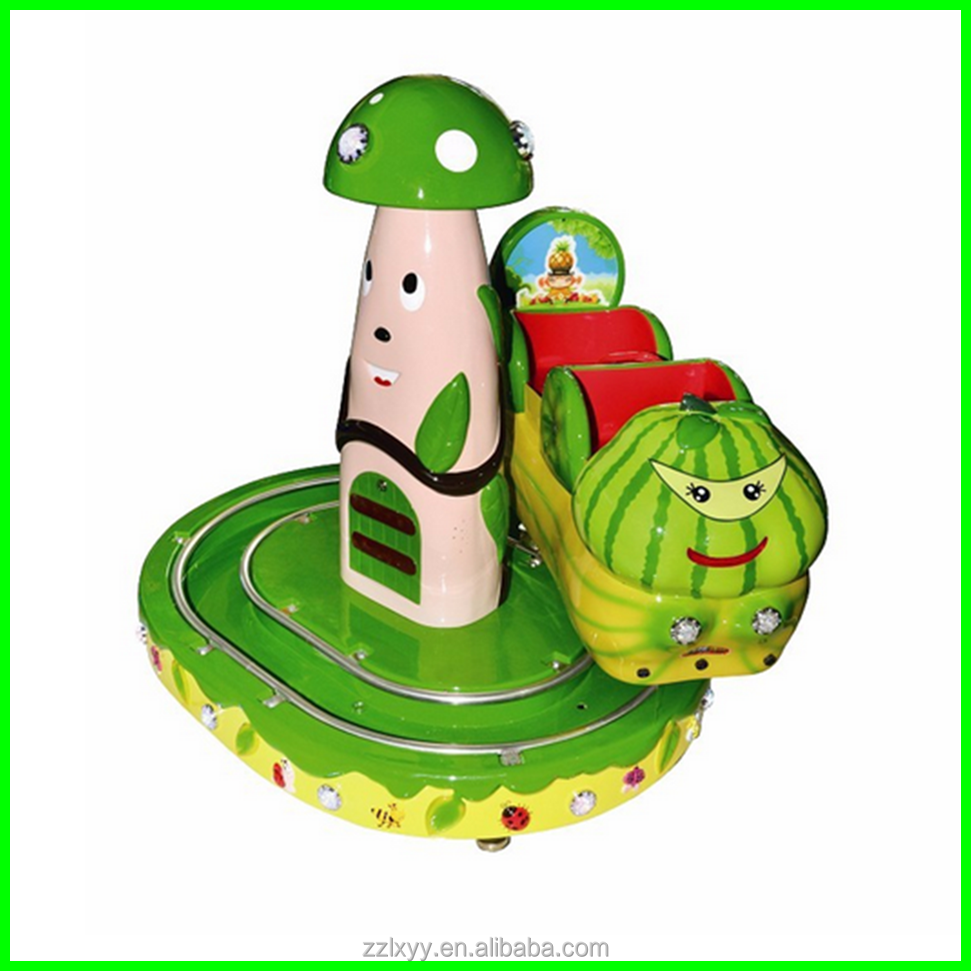 Big discount!!! funny and interesting!! amusement park track rides fruit insect floating car for sale