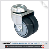 Sanmax factory direct sales 3 inch swivel hospital bed caster wheel, medical caster wheel, twin wheel caster