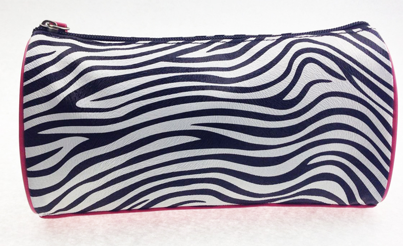 Wholesale Simpleness lovely zebra-stripe youth cosmetic bag/toiletry bag pouch