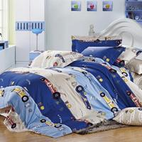 Factory Car printed Kids bedding set