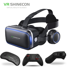 hot sale model ABS material vr headsets with headphone for ios iphone android for watching vr 360 degree video