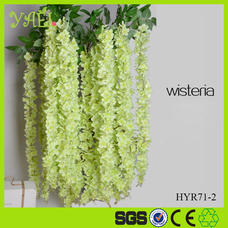 new arrival hanging artificial wisteria flower for wedding decoration/artificial wisterias for christmas decorations