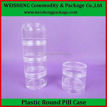Hot sales transparent 5 days plastic weekly pill box,pill case,vitamin box