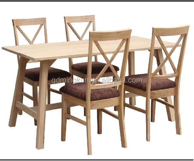 solid wood oak dining room set modern dinning table set new design