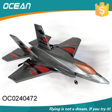 Modern fighter shape plane outdoor 2.4g 2ch foam glider rc airplane from china
