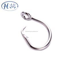 Circle beak fishing hook with ring for longline fishing