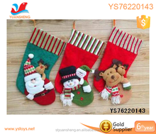 wholesale christmas gift tree handing decoration 2017stocking sock toy