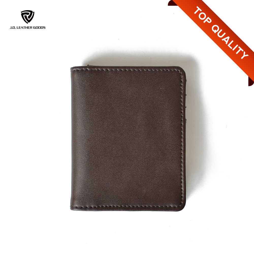 Bifold Leather Mini Wallet Mens/Wholesale Mens Leather Minimalist Wallet