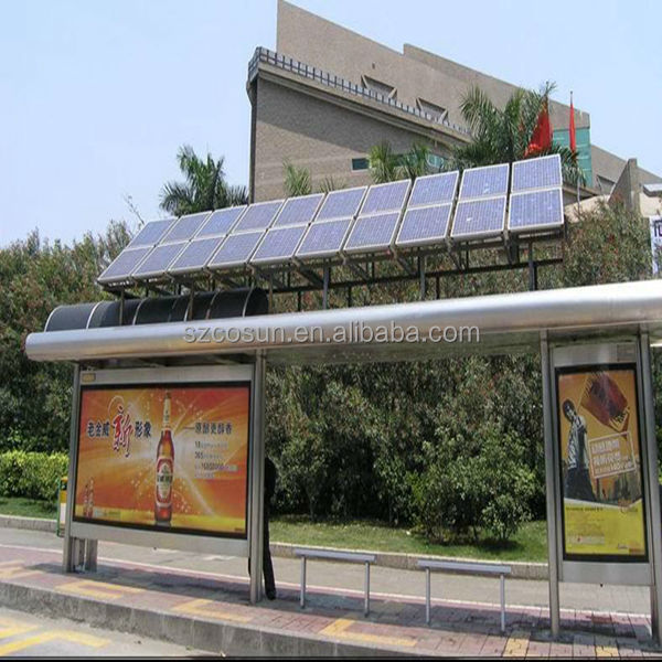 Solar Power Bus Stop Shelter