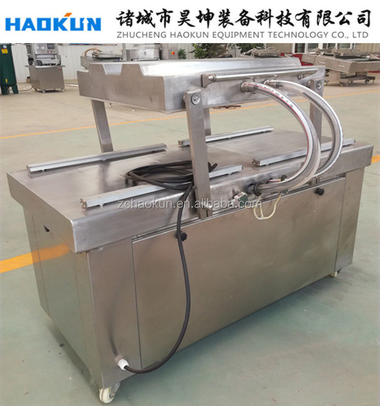 Continuous automatic interior pumping double chamber vacuum sealer packing machine/vacuum packager
