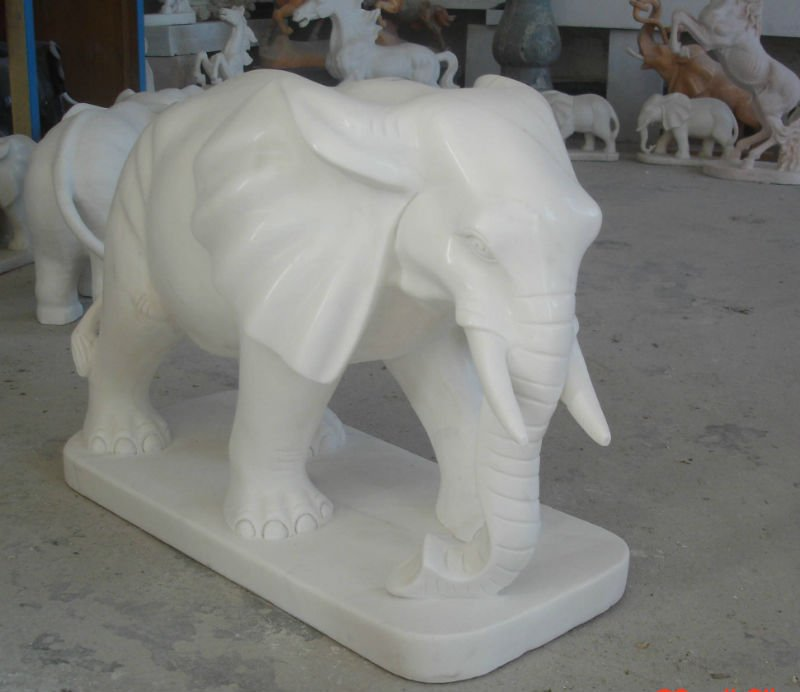 Animal stone statues