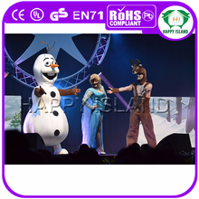 HI 2015 adult movie cartoon snowman olaf mascot costume for adult