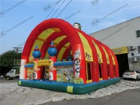 giant inflatable fun city with roof for public events