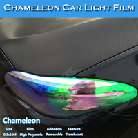 Self Adhesive Color Change Chameleon Foil For car accessories light