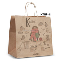 NPRT-11 Shoe Kraft paper bag new design for retail with twisted flat paper handle