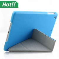 Shapes Transformer Folding Cross Pattern Cover With Automatic Sleep & Wake-Up For iPad mini 1 2 3
