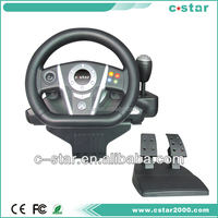 2 in 1 USB wireless bluetooth racing wheel with led light gear shifter and foot pedal For ps3/pc