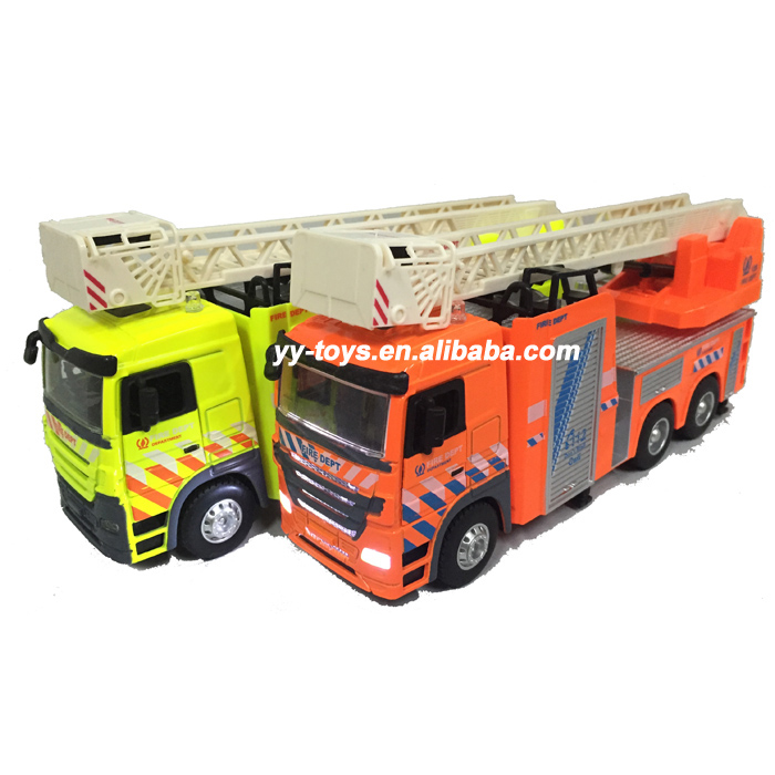 Fire fighting truck with light and music 2 style mixed model 1 : 32 diecast toy