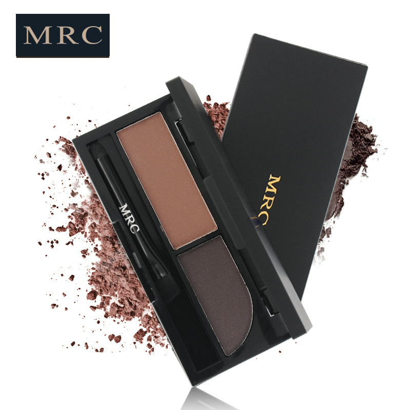 Wholesale Makeup Private Label Waterproof Eyebrow Powder 2 Colors mirror Eyebrow Powder Palette