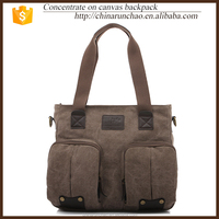 high quality new design men briefcase canvas leather tote handmade bags factory christmas wholesale
