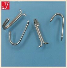 Stock 32mm length nickel plated steel double wire j <strong>hook</strong> for hanger
