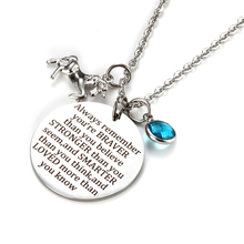 Inspirational Jewelry Gifts Engraved Message stainless steel Horse pendant charm Necklace for Teen Girls Birthday Gift Jewelry