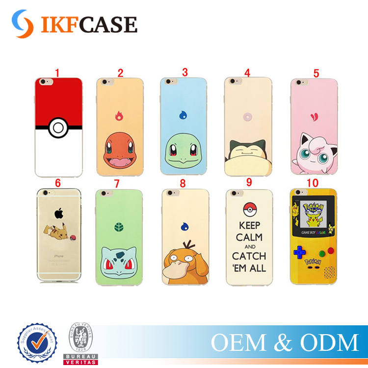 New products 2016 Pokemon go pikachu cell phone case for iphone