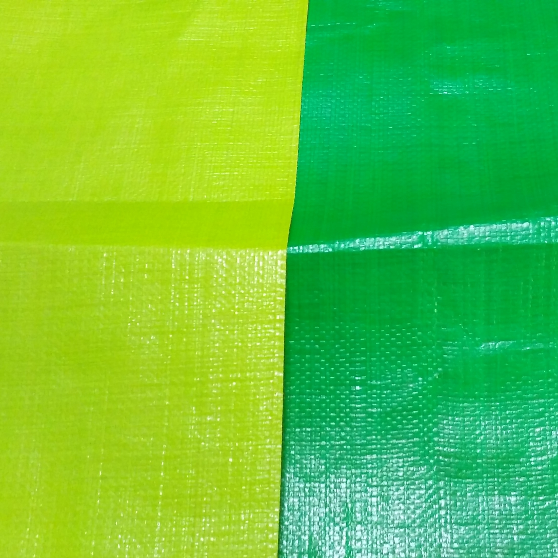Green Orange Laminated PE Tarpaulin