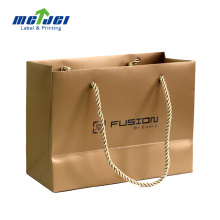 luxury print art paper shoping paper carrier bag with PP handle