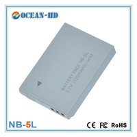 For Canon NB-5L 3.7v power camera flat cell lithium ion battery