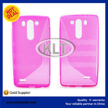 S shape cover for LG G3 mini OEM colors TPU soft case S line at factory price with fast shipping