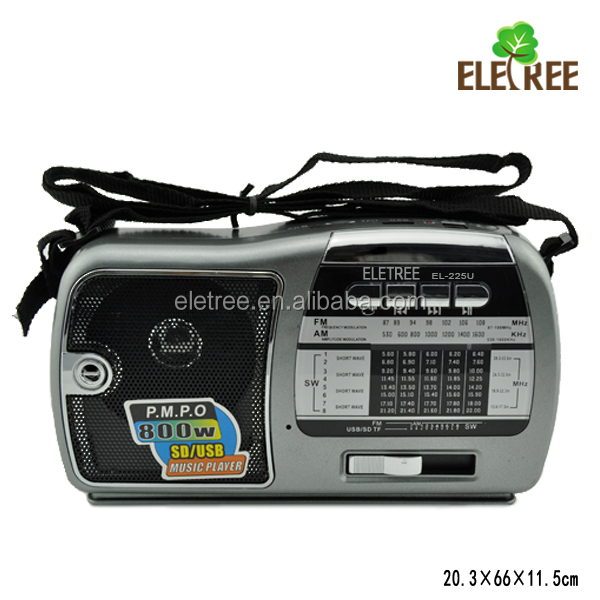 China oem manufacturer digital world receiver radio with usb port EL-225U auto scan radio