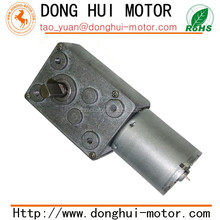 46mm metal spur gearbox 80rpm dc gear motor, 12v 24v dc worm gear motor with right angle shaft