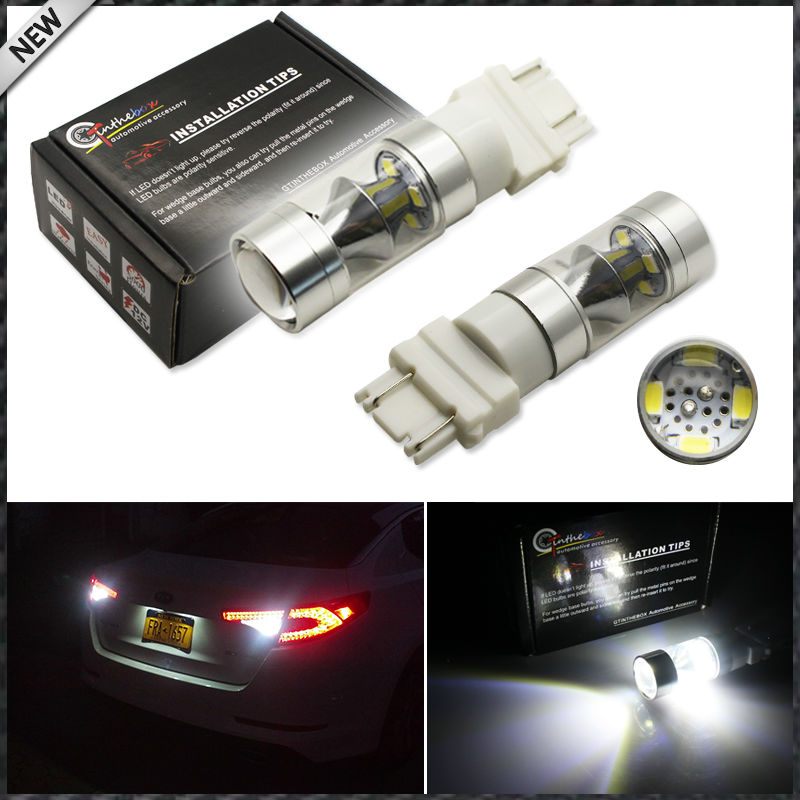 Extremely Bright 6000K Xenon White 60w High Power 3157 3156 3056 T25 LED Light Bulbs For Car Backup Reverse Lights or DRL use