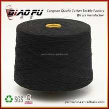 2015 hot sale spinning oe recycled blended black cotton yarn from Cangnan factory