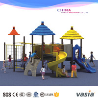 Variety Plastic safety school swing and slide set