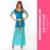 Wholesale Women's Sexy Halloween Adult Costume Deluxe Dreamy Genie Costume Blue Belly Dance Costume